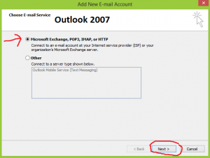 Figure 2 Outlook 2007